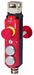 CTP-L1-AR-U-HA-AEE-SH-137164<br>Transpondercodierter Sicherheitsschalter CTP-AR, M23, Not-Halt, 2 Drucktaster (extended), mit Fluchtentriegelung