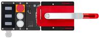 MGB2-L1HE-BR-U-S0-DY-R-164367<br>Komplettset MGB2-L1HE-BR (2 Drucktaster, Not-Halt, mit Fluchtentriegelung, Ruhestromprinzip, Türanschlag rechts)