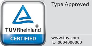 Zulassung TÜV Rheinland, BMPB mit ZG: Type Approved